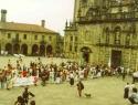 Santiagoceremonia.entrando a la catedralplazaquintana